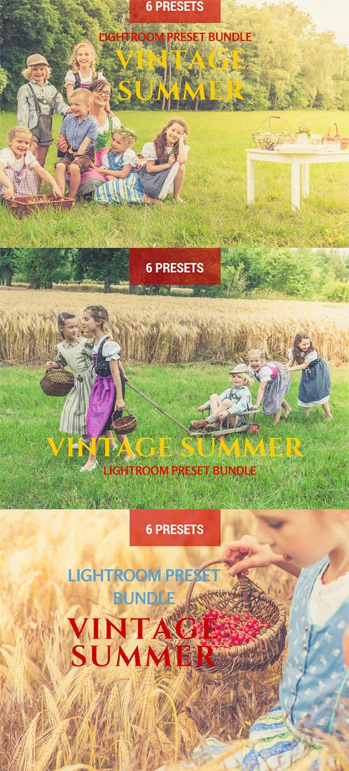 CreativeMarket 6 Summer Vintage Lightroom Presets