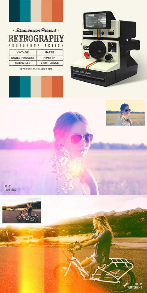 CreativeMarket Retrography - Photoshop Action