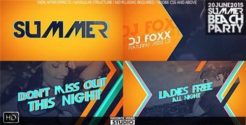 Summer Beach Party - After Effects Project (Videohive)