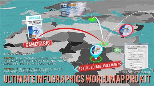 3D World Map Pro Kit - After Effects Project (Videohive)