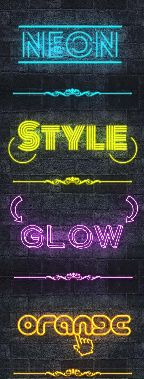 GraphicRiver Neon Text Styles V2