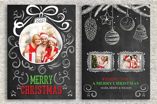 CreativeMarket Christmas Card Template