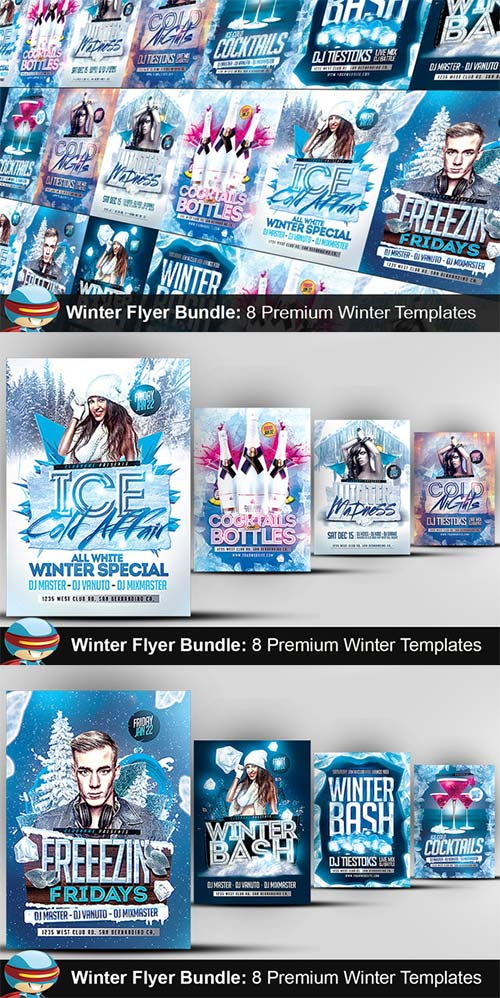 CreativeMarket Flyerheroes Winter Bundle