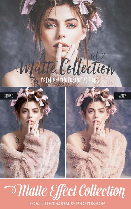 CreativeMarket Matte Photoshop Actions & ACR preset