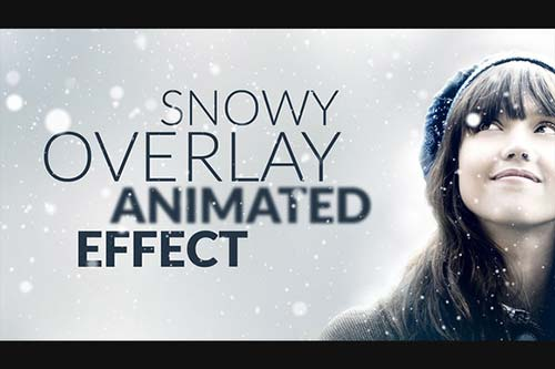 CreativeMarket Snowy Animated Overlay in Photoshop