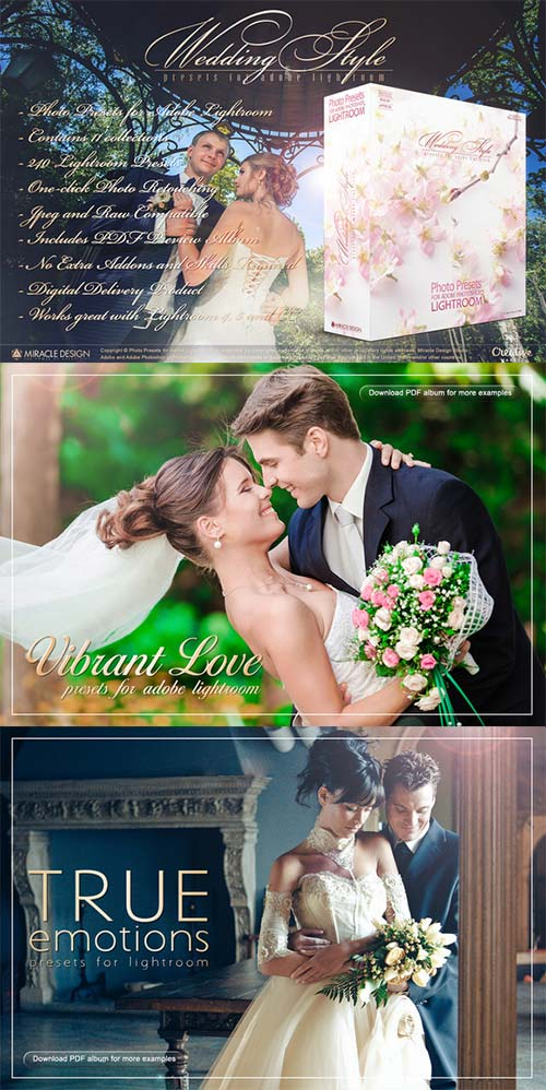 CreativeMarket Presets for Lightroom - Wedding Style