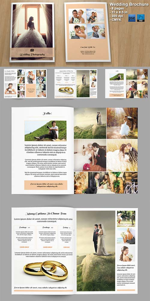 CreativeMarket Wedding Photography Brochure - V328