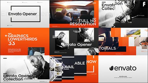 Modern Opener + 33 Lower Thirds - After Effects Project (Videohive)