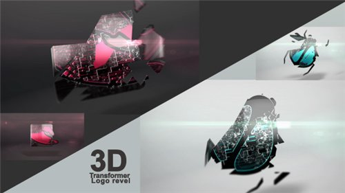 3D Transformer Logo - After Effects Project (Videohive)