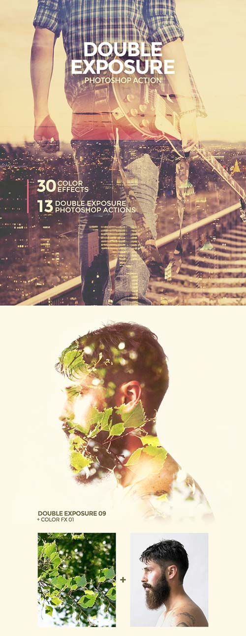 GraphicRiver Double Exposure Photoshop Action 16124756