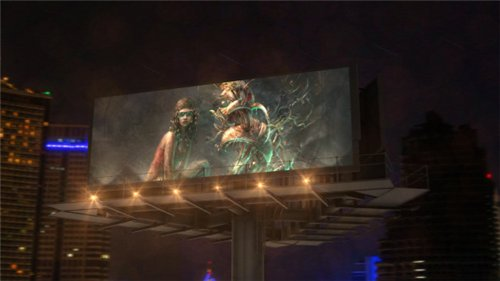 Billboard In Night City - After Effects Project (Videohive)