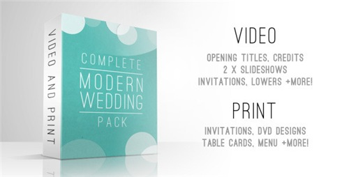 Complete Modern Wedding Pack - After Effects Project (Videohive)
