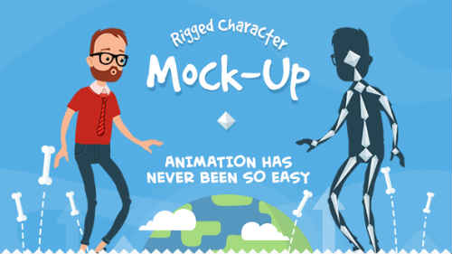 Rigmo - Rigged Character Animation Mockup - After Effects Project (Videohive)