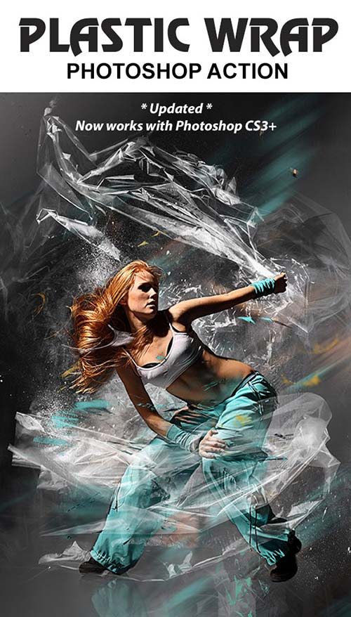 GraphicRiver Plastic Wrap Photoshop Action