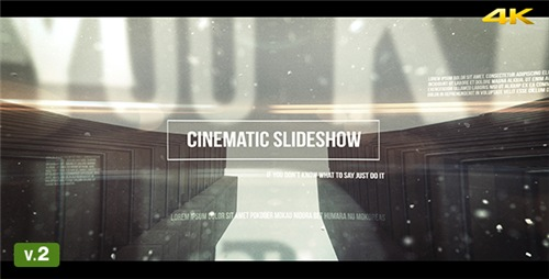 Cinematic Slideshow - After Effects Project (Videohive)
