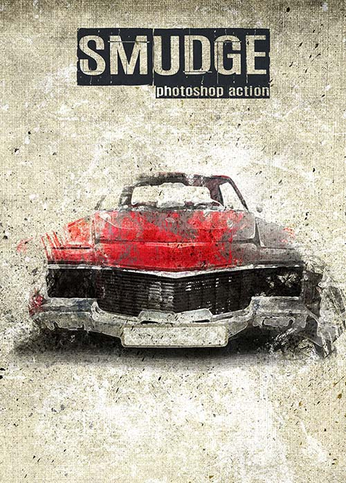 GraphicRiver Smudge - Photoshop Action