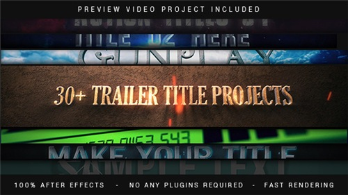 Trailer Titles Pack - After Effects Project (Videohive)