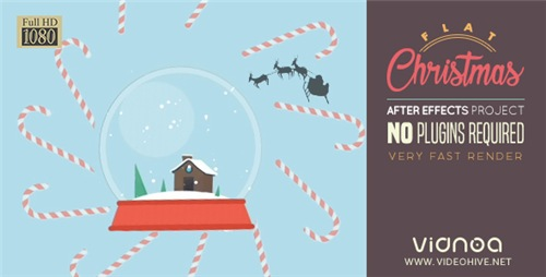 Flat Christmas - After Effects Project (Videohive)