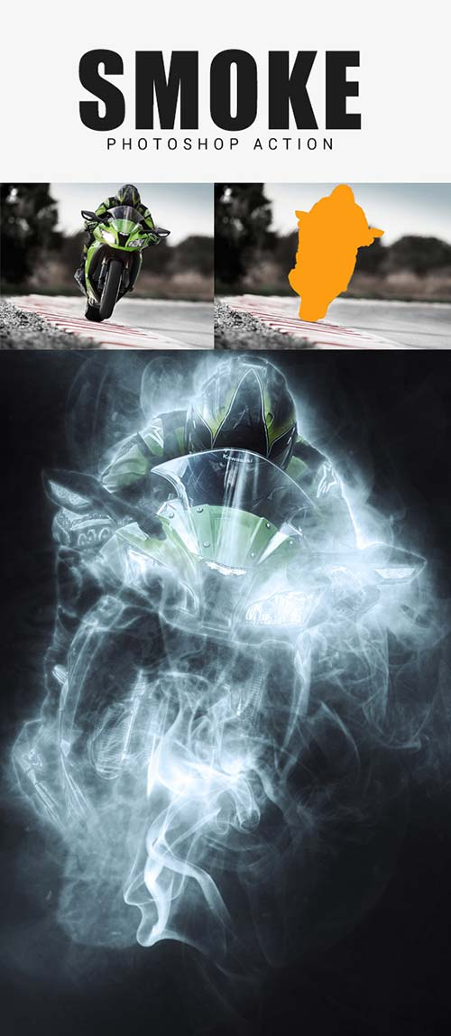 GraphicRiver Smoke Photoshop Action 17530990