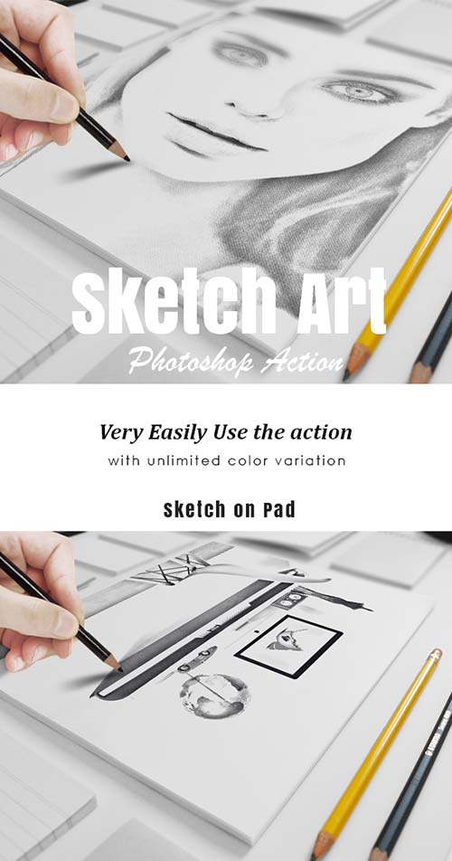 GraphicRiver Sketch Art Photo Action