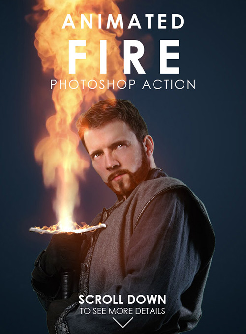 GraphicRiver Animated Fire Photoshop Action