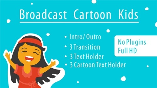 Broadcast Cartoon Kids - After Effects Project (Videohive)