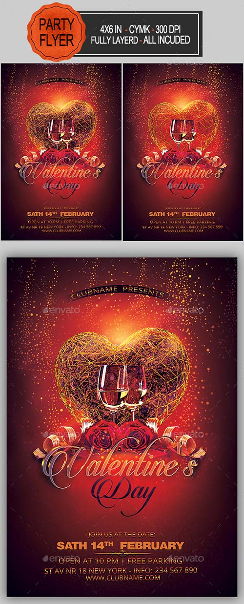GraphicRiver Valentines Party Flyer 19270040