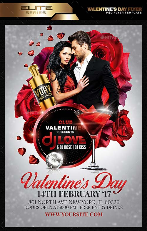 GraphicRiver Valentine's Day Flyer Template 19270355