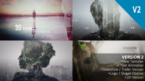 2D and 3D Double Exposure Pack - After Effects Project (Videohive)