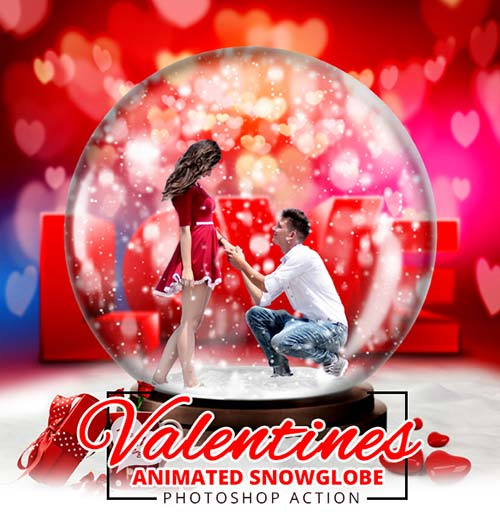 GraphicRiver Gif Valentine Animated Snow Globe Action