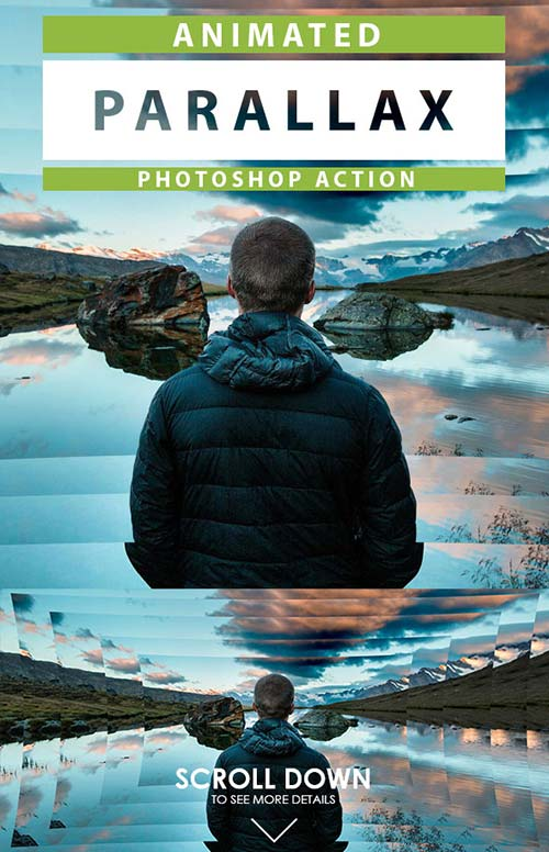 GraphicRiver Animated Parallax Photoshop Action