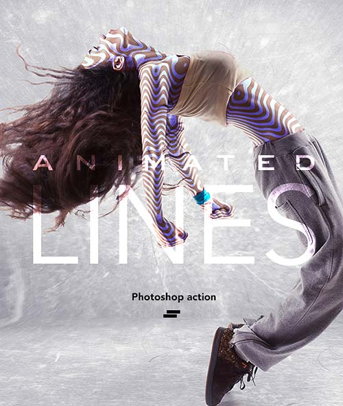 GraphicRiver Gif Animated Lines Photoshop Action