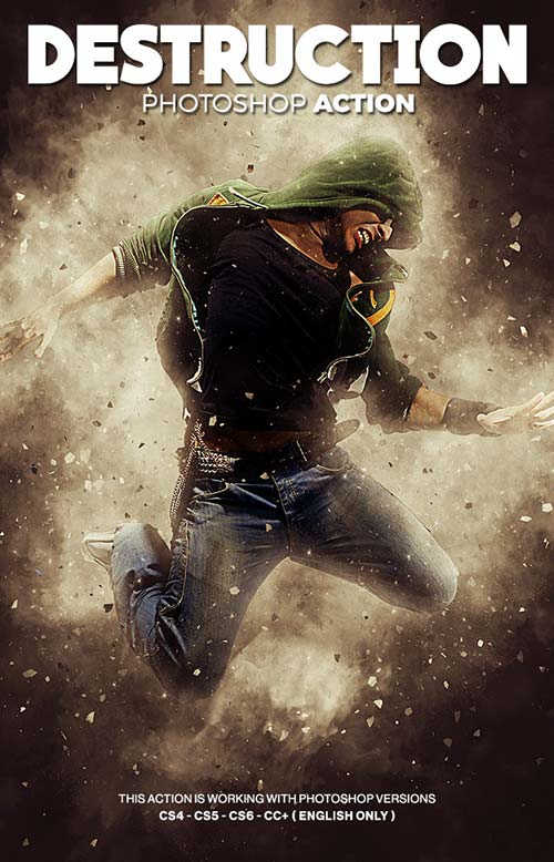 GraphicRiver Destruction Photoshop Action - Explosion Effect