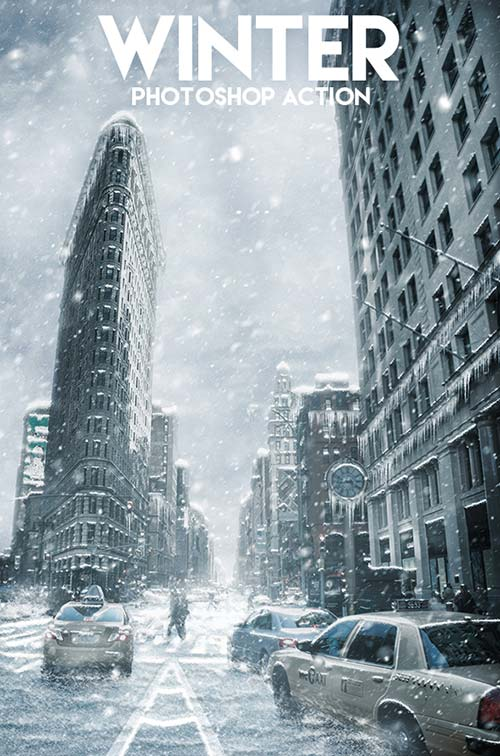 GraphicRiver Winter Photoshop Action