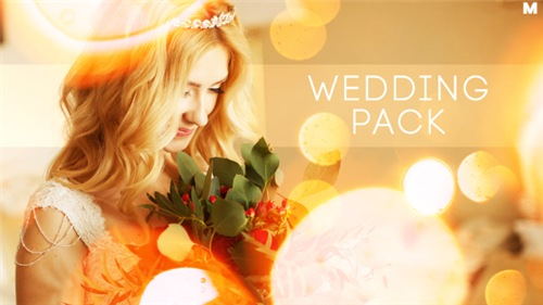 Wedding Titles Slideshow Light Leaks - After Effects Project (Videohive)