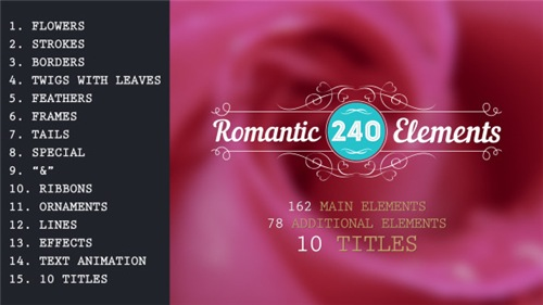 Romantic Elements & Titles - After Effects Project (Videohive)