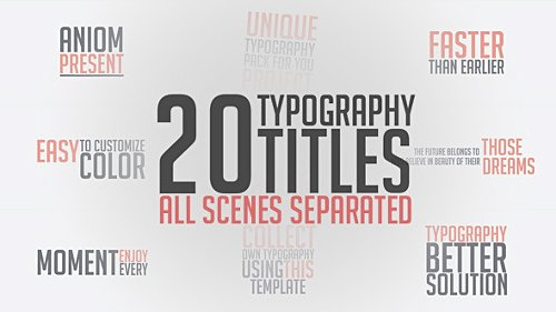 Unique Typography - After Effects Project (Videohive)