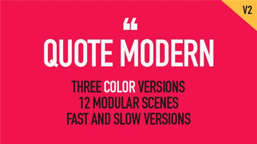 Quote Modern - After Effects Project (Videohive)