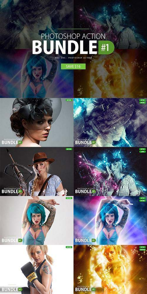 CreativeMarket Photoshop Action Bundle #1