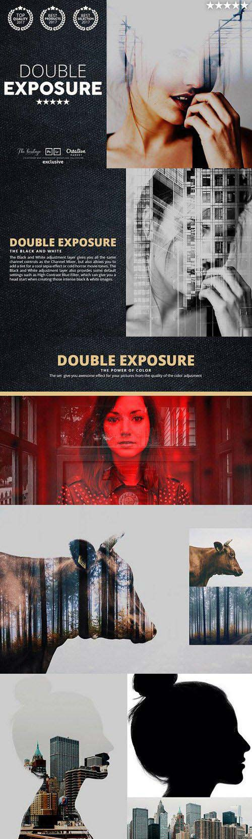 CreativeMarket The DOUBLE EXPOSURE 146 Kit Bundle