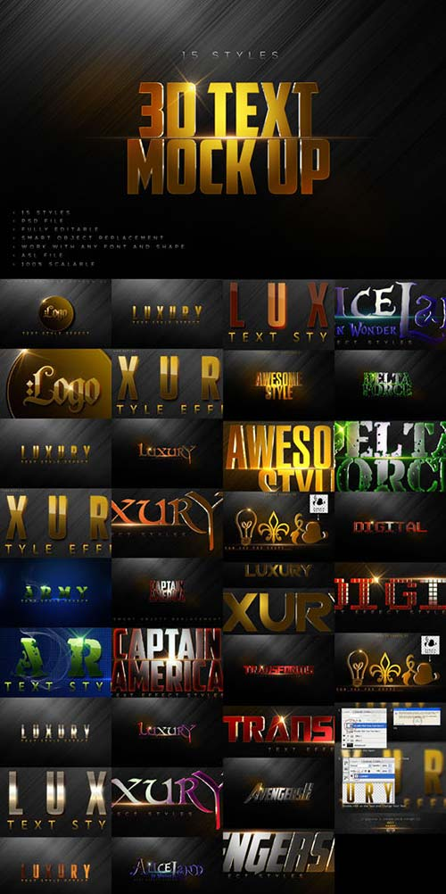 GraphicRiver Bundle Luxury Text Styles VB1.3