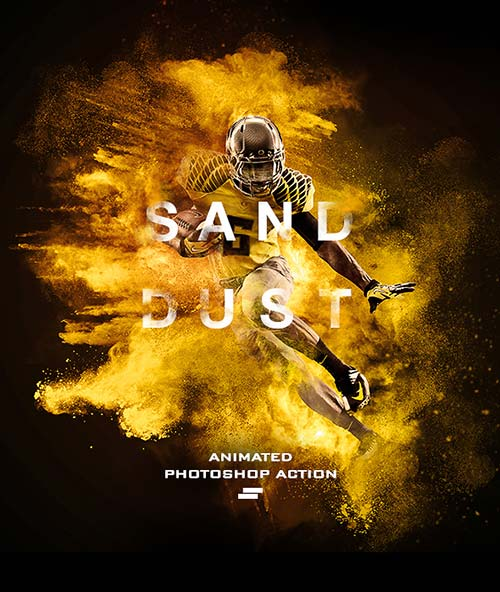 GraphicRiver Gif Animated Sand Dust / Powder Explosion Photoshop Action