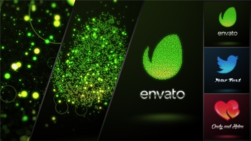 Glowing Dots Logo - After Effects Project (Videohive)