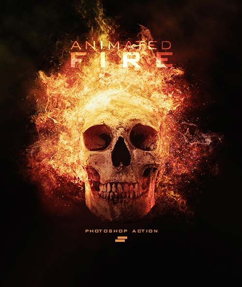 GraphicRiver Gif Animated Fire Photoshop Action