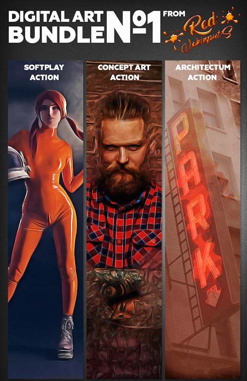 GraphicRiver Digital Art Bundle №1 Photoshop Action