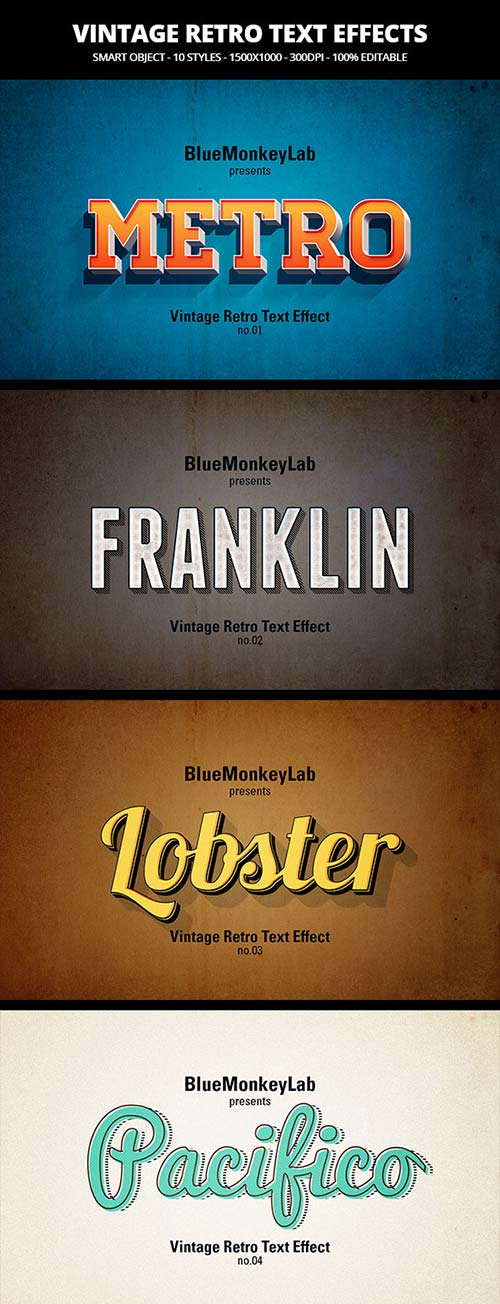 GraphicRiver Vintage Retro Text Effects