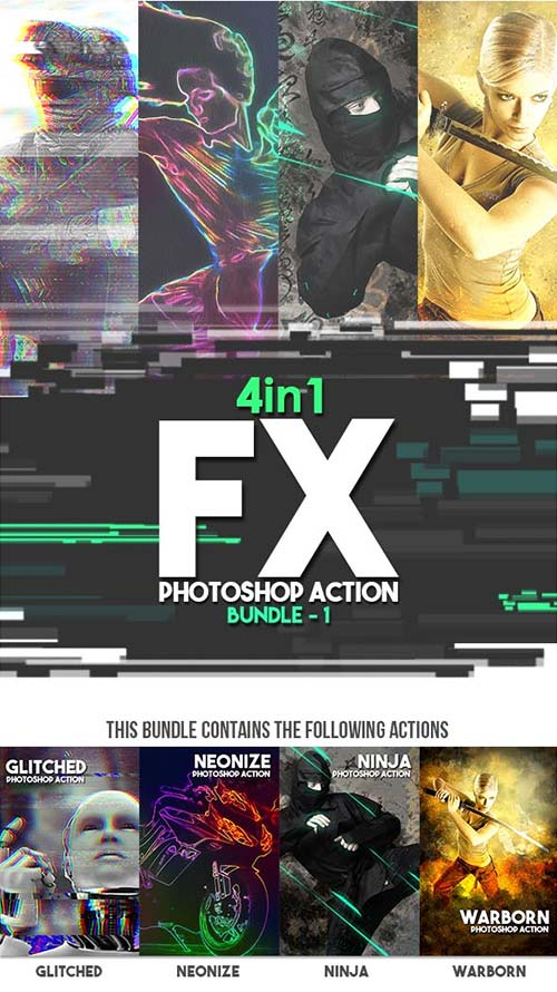GraphicRiver FX Photoshop Action Bundle v1