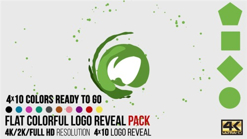 Flat Colorful Logo Reveal Pack - After Effects Project (Videohive)