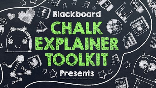 Blackboard Chalk Explainer Toolkit - After Effects Project (Videohive