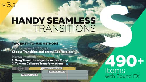 Handy Seamless Transitions | Pack & Script - After Effects Project (Videohive)